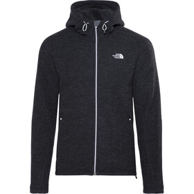 competitive price edaf4 682a4 The North Face M s Zermatt Hooded Full Zip Fleece Jacket TNF Black Black  Heather